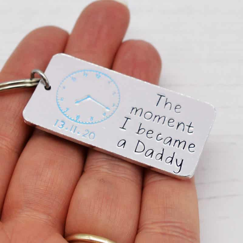 Stamped With Love - Moment I Became a Daddy Keyring