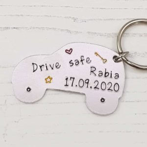 Stamped With Love - New Driver Keyring