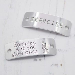 Stamped With Love - Zombies eat the slow ones Trainer Tags