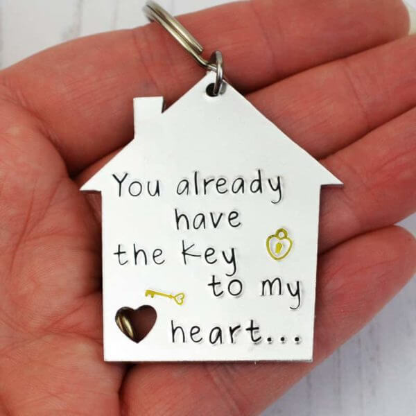 Key to my heart Keyring