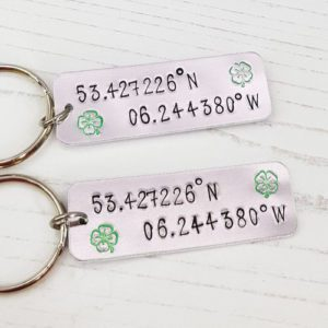 Stamped With Love - Coordinates Keyring