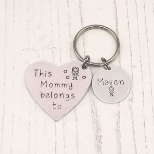 Stamped With Love - Mummy belongs to Heart keyring
