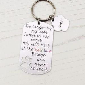 Stamped With Love - Rainbow Bridge Keyring
