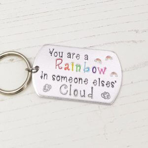Stamped With Love - You're a Rainbow Keyring