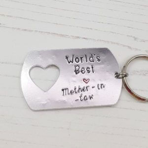 Stamped With Love - Worlds Best Mother-in-Law Keyring