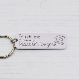 Stamped With Love - Master's Degree Keyring