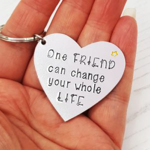Stamped With Love - One Friend Keyring