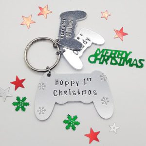 Stamped With Love - 1st Christmas Game Controller Keyring