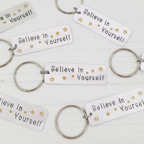 Stamped With Love - Believe in Yourself Keyring