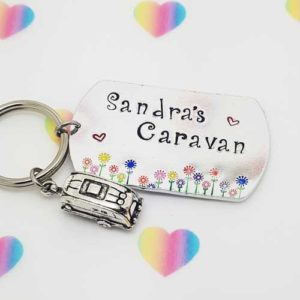Stamped With Love - Caravan Keyring