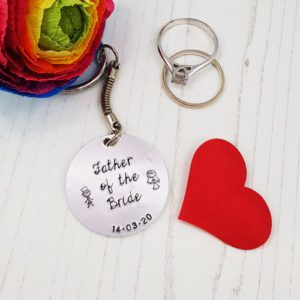 Stamped With Love - Father of the Bride Keyring