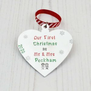 Stamped With Love - First Christmas as a Couple Bauble