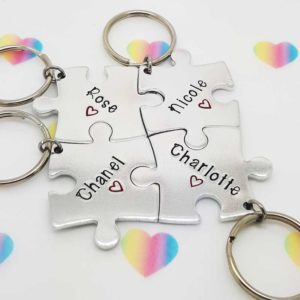 Stamped With Love - Friendship Jigsaw Keyrings