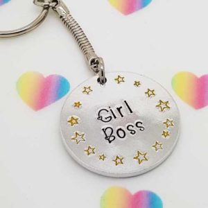 Stamped With Love - Girl Boss Keyring