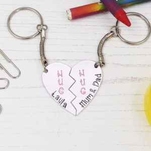 Stamped With Love - HUG Starting School Keyring