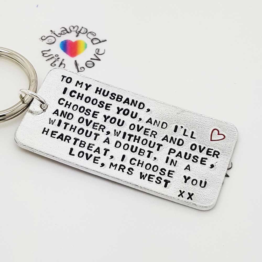 Stamped With Love - I Choose You Keyring