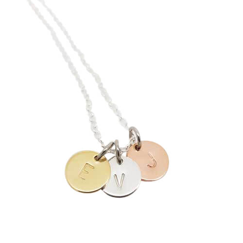 Stamped With Love - Trio Disc Necklace