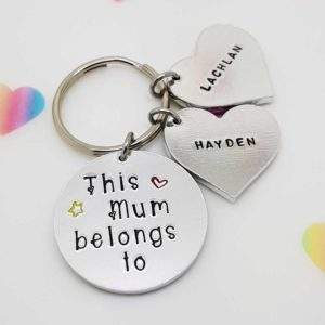 Stamped With Love - This Mummy Belongs to with Hearts