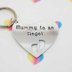 Stamped With Love - Mummy to an Angel Keyring