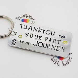 Stamped With Love - Thank you for your part in my Journey Keyring