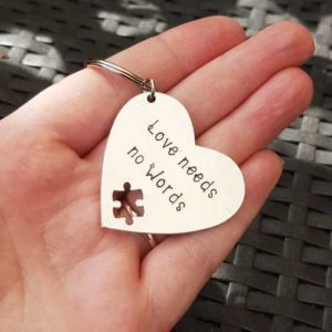 Stamped With Love - Love Needs No Words Autism Keyring