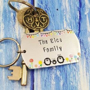 Stamped With Love - Penguin Family Keyring