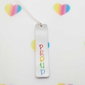 Stamped With Love - Proud Pride Necklace