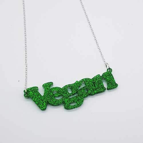 Stamped With Love - Vegan Resin Necklace