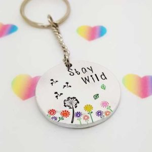 Stamped With Love - Stay Wild Circle Keyring