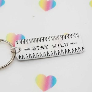 Stamped With Love - Stay Wild Rectangle Keyring
