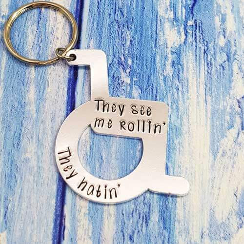 Stamped With Love - They See Me Rollin' Wheelchair Keyring