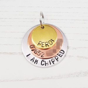 Stamped With Love - Tri-Colour Dog ID Tag