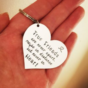 Stamped With Love - True Friends Keyring