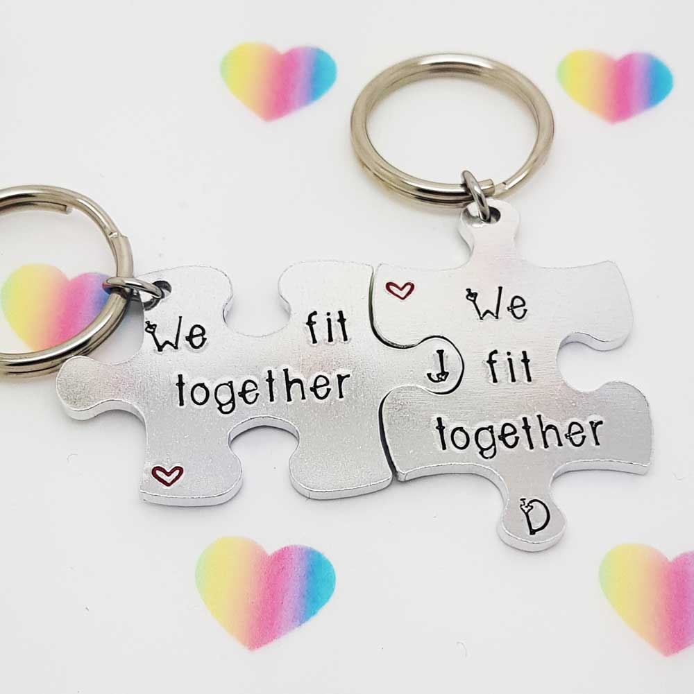 Stamped With Love - We Fit Together Jigsaw Keyrings
