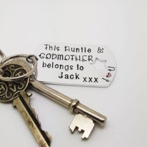 Stamped With Love - Auntie and Godmother Keyring