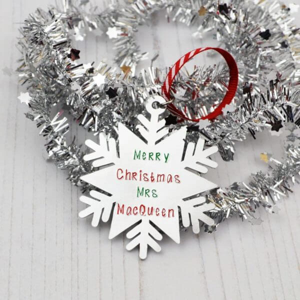 Stamped With Love - Teacher Christmas Gift Snowflake