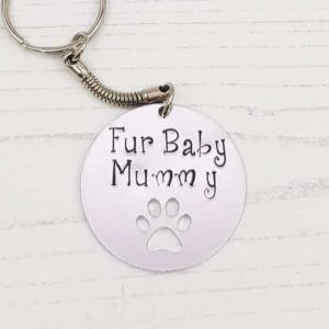 Stamped With Love - Fur Baby Mummy Keyring