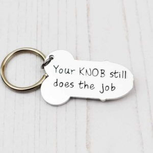 Stamped With Love - Knob still does the Job Keyring
