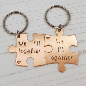 Stamped With Love - We Fit Together Bronze Keryings