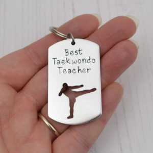 Stamped With Love - Best Taekwondo Teacher Keyring