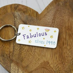 Stamped With Love - Personalised Birthday Keyring