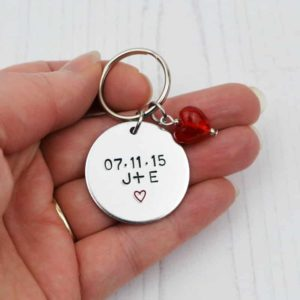 Stamped With Love - You And Me Personalised Keyring