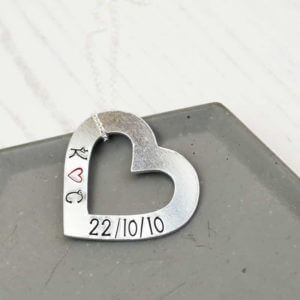 Stamped With Love - Personalised Open Heart Necklace