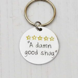 Stamped With Love - A Damn Good Shag Keyring
