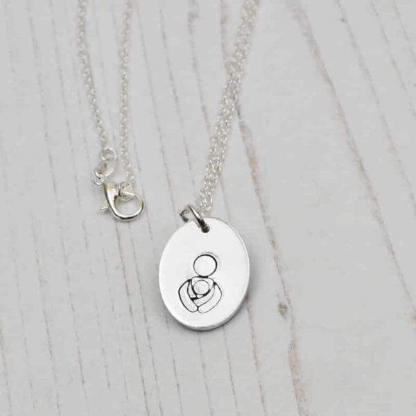 Stamped With Love - Baby Wearing Necklace