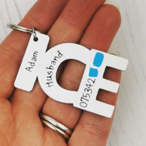 Stamped With Love - In Case of Emergency Personalised Keyring