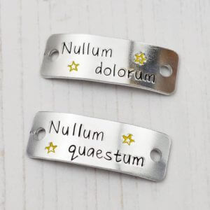 Stamped With Love - Nullum dolorum Nullum quaestum Trainer Tags