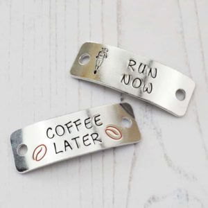 Stamped With Love - Run Now Coffee Later Trainer Tags