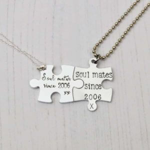 Stamped With Love - Soul Mates Jigsaw Necklaces