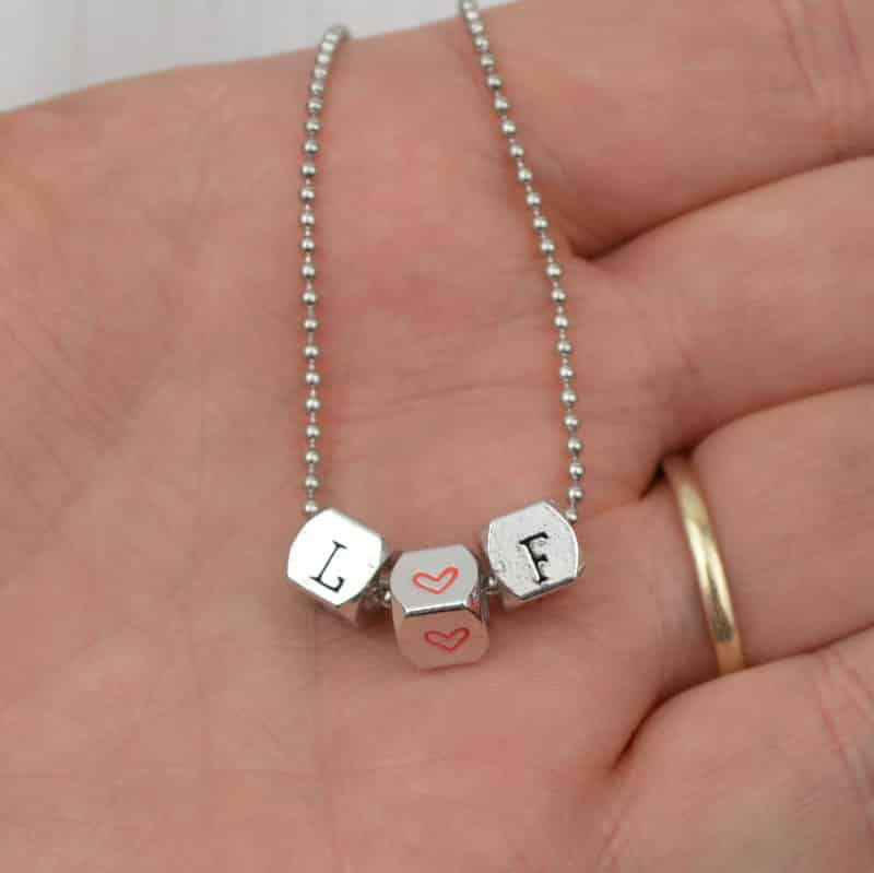 Stamped With Love - Cube Bead Necklace